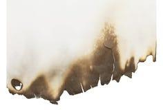 Papel quemado Imagen de archivo libre de regalías
