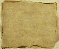 Papel quemado viejo fotografía de archivo libre de regalías