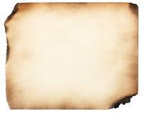 Papel quemado viejo Imágenes de archivo libres de regalías