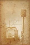 Papel railway velho fotografia de stock royalty free
