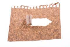 Papel rasgado Brown Foto de Stock Royalty Free