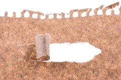 Papel rasgado Brown Fotos de archivo libres de regalías