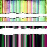 Papel rasgado colorido ilustração do vetor