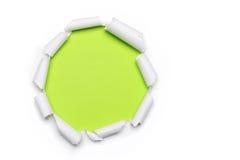 Papel rasgado com forma do circlet fotografia de stock