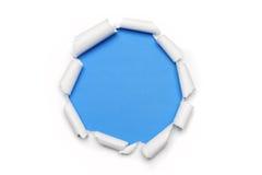 Papel rasgado con la dimensión de una variable del anillo Foto de archivo libre de regalías