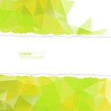 Papel rasgado con los triángulos y la malla del polígono Imagen de archivo libre de regalías