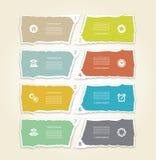 Papel rasgado moderno para el infographics Fondo del infographics del vector libre illustration