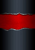Papel rasgado negro y rojo Fotografía de archivo libre de regalías