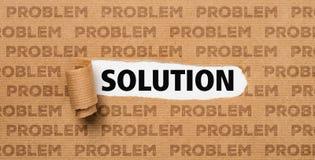 Papel rasgado - solução ou problema Imagens de Stock