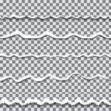 Papel rasgado transparente del vector Fotos de archivo libres de regalías