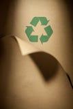 Papel recicl Fotografia de Stock
