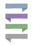 Papel recicl Tag da conversa Fotografia de Stock Royalty Free