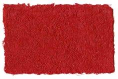 Papel reciclado vermelho Fotos de Stock Royalty Free