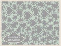 Papel retro da posse do vintage do coração do bakground do Valentim s ilustração do vetor