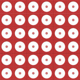 Papel rojo y blanco de Digitaces del círculo Imágenes de archivo libres de regalías