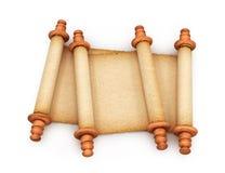 Papel Rolls de las volutas viejas aisladas en el fondo blanco 3d Imagen de archivo libre de regalías