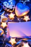 Papel romántico de tarjeta de felicitación de la Navidad Fotos de archivo libres de regalías
