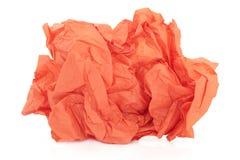 Papel seda anaranjado Fotos de archivo libres de regalías