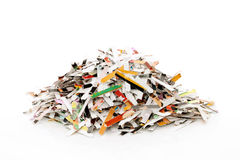 Papel Shredded Foto de Stock Royalty Free