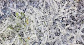 Papel Shredded Fotografia de Stock Royalty Free