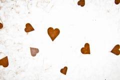 Papel Textured com coração Foto de Stock