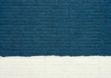 Papel textured del azul y blanco Imágenes de archivo libres de regalías
