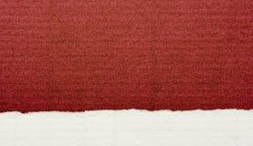 Papel textured del rojo y blanco Imagen de archivo