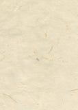 Papel textured hecho a mano en blanco amarillento Imagen de archivo libre de regalías