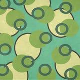 Papel Textured modelo retro de los círculos del camuflaje Imagenes de archivo