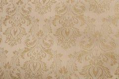 Papel textured oro del damasco Imagen de archivo libre de regalías