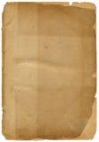 Papel textured viejo con el borde decrépito. Foto de archivo libre de regalías