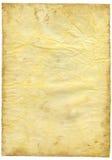 Papel textured viejo con el borde decrépito. Fotos de archivo