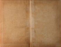 Papel Unfolded da obscuridade do livro fotografia de stock
