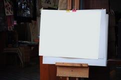 Papel vacío para la pintura Fotos de archivo