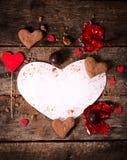 Papel vazio da forma do coração Foto de Stock Royalty Free