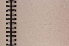 Papel vazio do livro de nota Foto de Stock Royalty Free