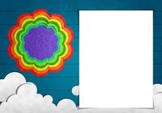 Papel vazio e arte do papel Imagens de Stock