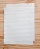 Papel vazio em branco Foto de Stock