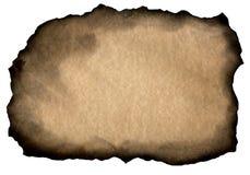 Papel velho com bordas queimadas Fotografia de Stock Royalty Free