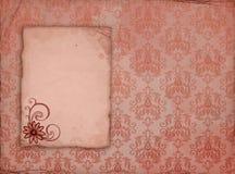 Papel velho com flor ilustração do vetor
