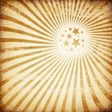 Papel velho com imagem do sunburst. ilustração stock