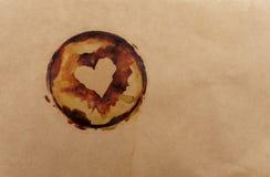 Papel velho com manchas do café Imagens de Stock
