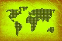 Papel velho com mapa pontilhado Fotografia de Stock