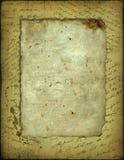 Papel velho com o texto escrito à mão Imagens de Stock