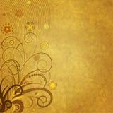 Papel velho com ornamento floral Fotografia de Stock