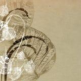 Papel velho com teste padrão floral Imagens de Stock