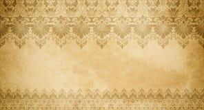 Papel velho com testes padrões decorativos do vintage Imagens de Stock
