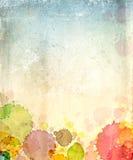 Papel velho da textura com manchas da pintura Imagens de Stock Royalty Free