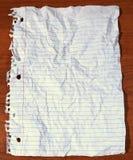 Papel velho do livro de nota na mesa Foto de Stock