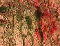 Papel velho esmagado com manchas da pintura. Foto de Stock Royalty Free